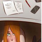 Wife Under Desk